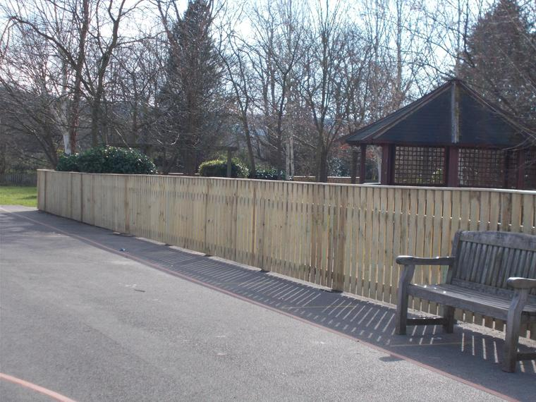New fencing around Y1 outside provision