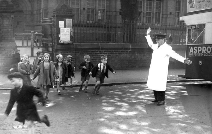 Arthur Abbiss - School crossing patrol in 1953.