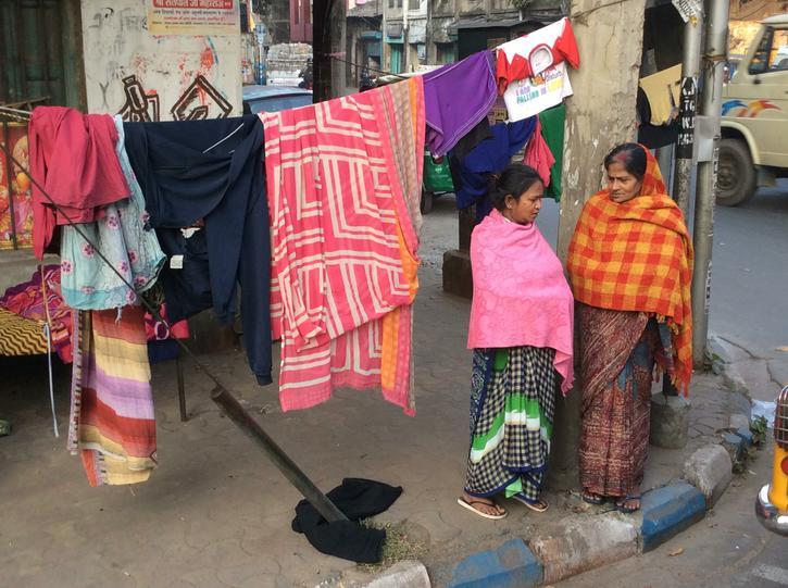 Street side laundry