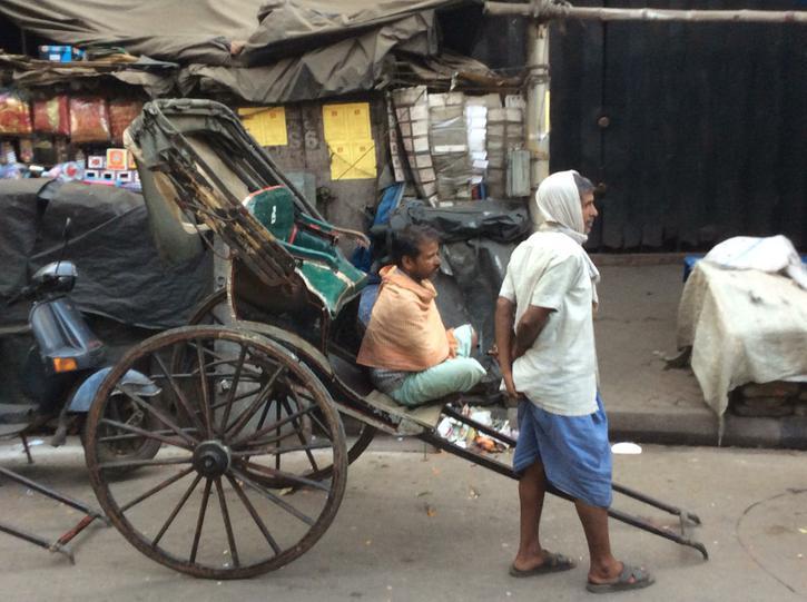 Rickshaw taxis waiting for their fares