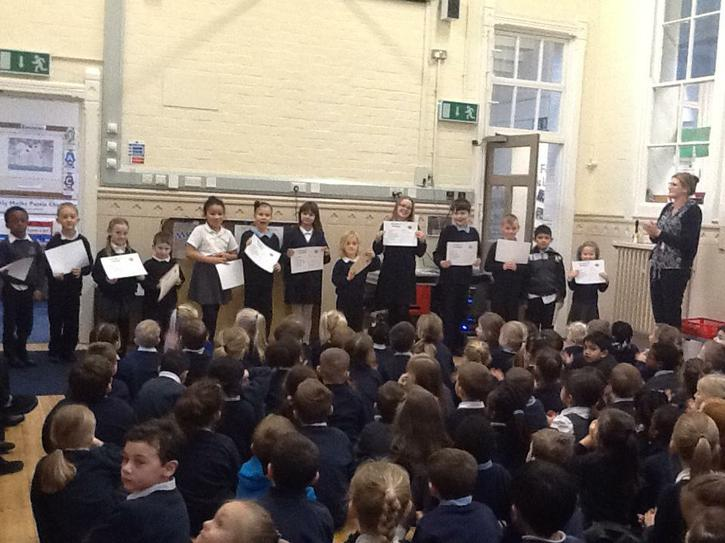 Celebrating pupils who have exceeded expectations