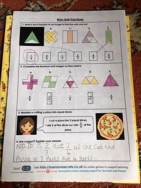 Some great fraction work from Isabelle.