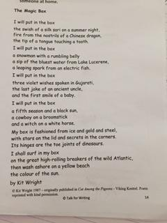 This is the poem that she has based lots of work on.
