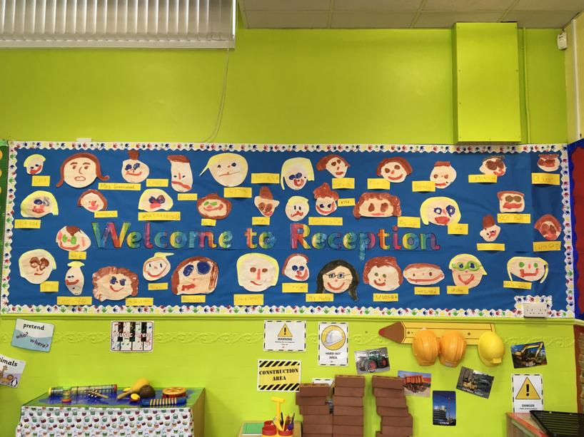 Look at us all, we have been busy painting our faces and writing our names.