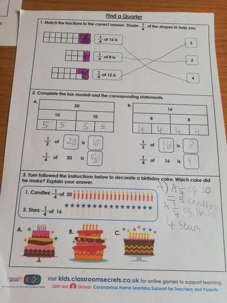 Lilly's fantastic fractions!