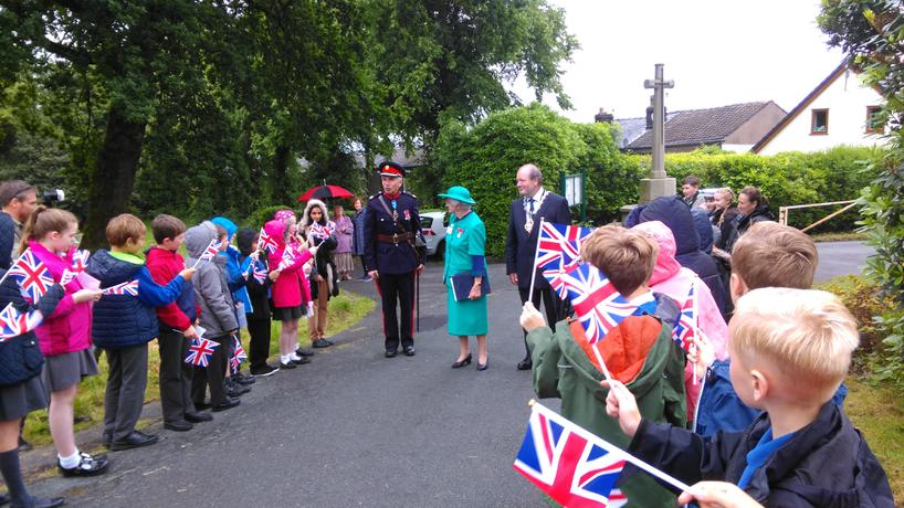 Darwen's Mayor and the Lord Lieutenant arrive.