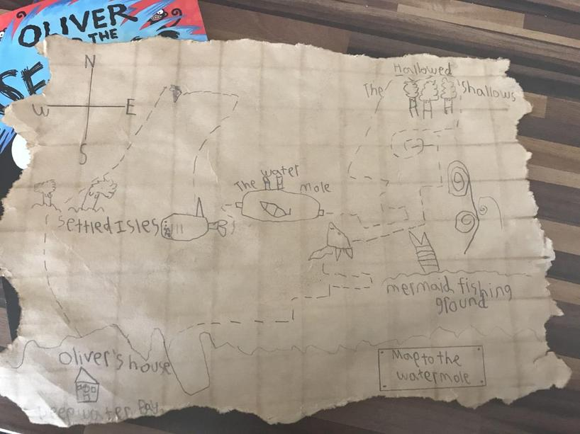 "Ollie's ""Oliver & the Seawig"" map"