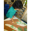 Making our hand print tree