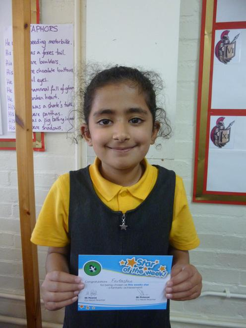 24th September- always trying to improve her work independently with a thesaurus.