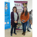 NIcky Morgan with teacher trainee Katy Gerighty