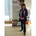Nicky Morgan M.P. with our LLA banner