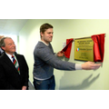 Ed Slater unveils the multi-sensory room plaque