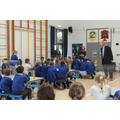 Mr Wiggin visited us to talk to us about how parliament works