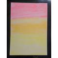 We created Mark Rothko inspired artwork using chalks and water.