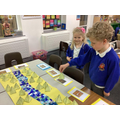 We made information cards explaining what the Egyptians used the River Nile for
