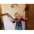 We made our own dancing dragons.