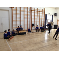 Year 5 in the hall, creating music