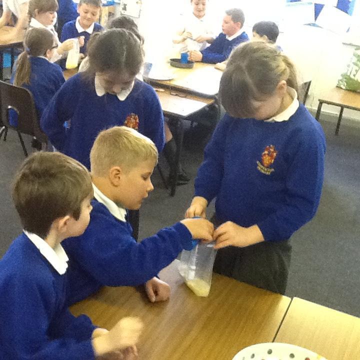 Blue Class exploring digestion