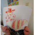 We learnt to draw our own dragon