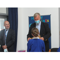 We presented Mr Wiggin with our ideas and letters to aim for world wide education for all