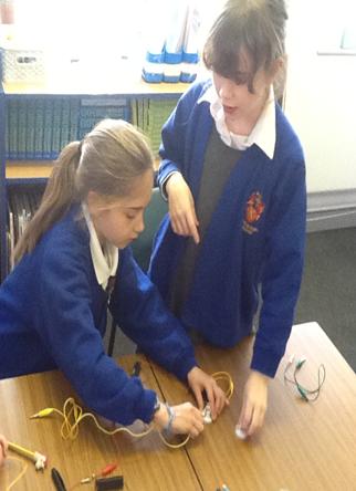 Blue Class exploring electricity