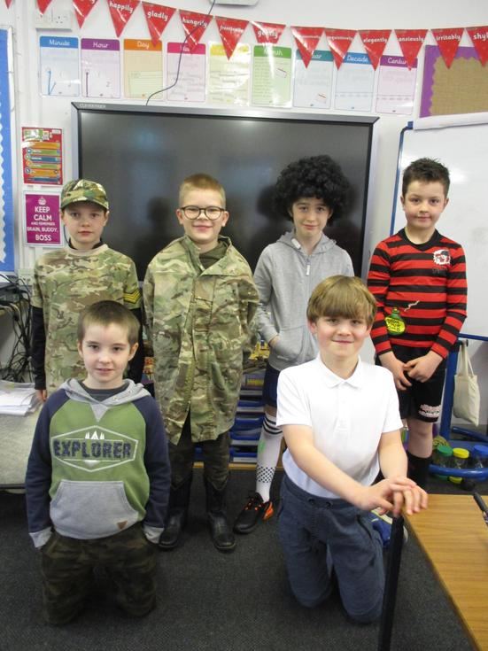 Here are the children at school on World Book Day!