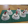 WW2 Christmas cakes with our carefully made Fimo toppers