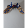 Sarthak made this lovely peacock