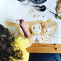 Robyn's soy sauce painting