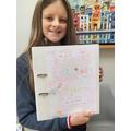Decorated school work folder