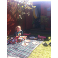 Sunny lunchtime barbecue