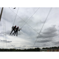 Off to a flying start on the giant swing!