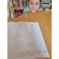 Molly enjoying her maths