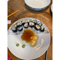 Evie has made some mouthwatering sushi.