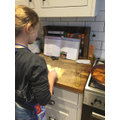 Ava has been doing some cooking