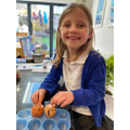 Isabella Making Cress People in Science