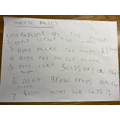Emily's rules for a visit to the moon