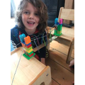 Alex making an incredible bridge. We think he might be the next Brunel!