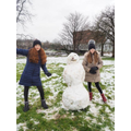 Elsie and her sister made a brilliant snowman