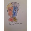 Joe's Picasso-inspired portrait