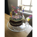 Mrs Franklin's cake - baked for Emmie's birthday
