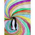 A perfect penguin painting by Gabriel!