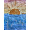 Abi's watercolour sunset