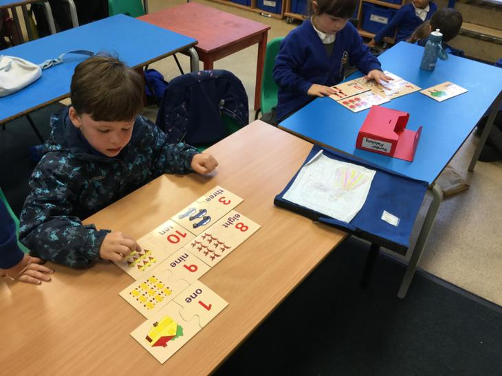 Matching numbers to pictures