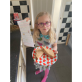 Edith having made her Sandwich after following her Instructions