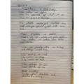 Evie's poem about a teacher
