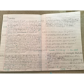 Diary writing by Theo (Sycamore class)
