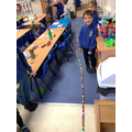 Apple class decided to measure the classroom!