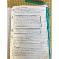 Diary writing by Finn B. (Sycamore class)