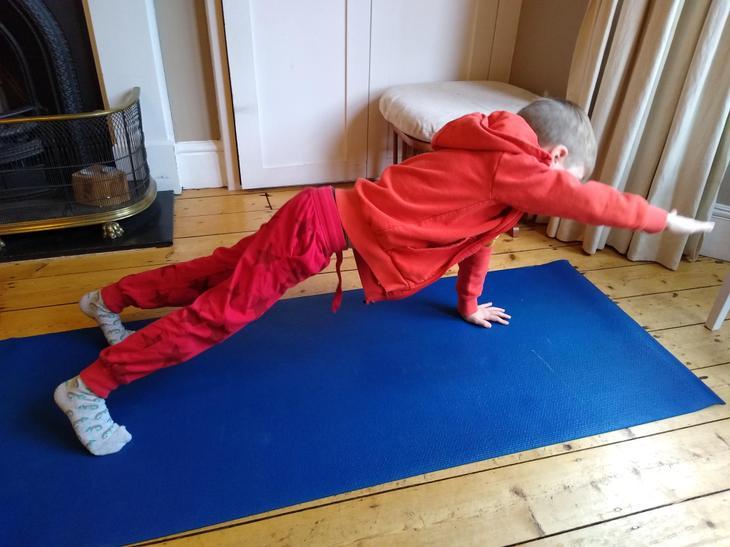 Felix exercising